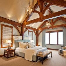Traditional Bedroom by tdSwansburg design studio