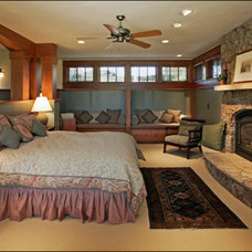 Craftsman Bedroom by Lynne Barton Bier - Home on the Range Interiors