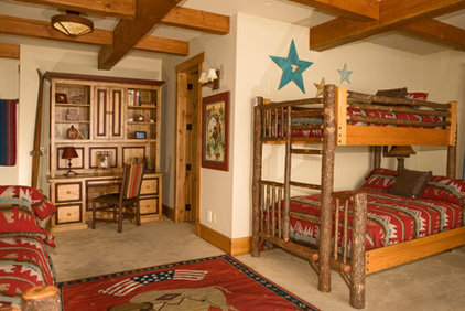 Rustic Bedroom by Lynne Barton Bier - Home on the Range Interiors