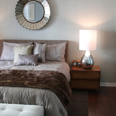 Decorative Mirror Above Bed Design Ideas, Pictures, Remodel, and Decor