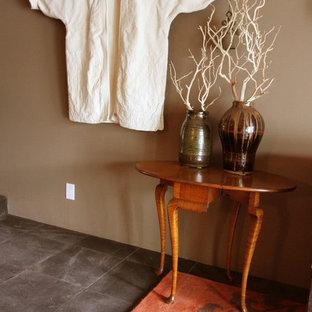 Example of a zen bedroom design in Orange County
