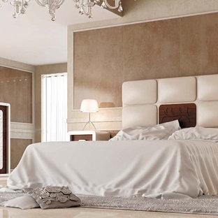 Bedroom - eclectic master bedroom idea in Miami