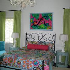 Transitional Bedroom by Melanie Lark Design