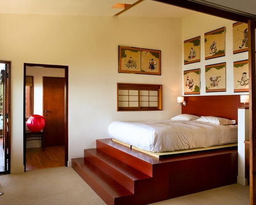 Tatami platform bed houzz for Photos chambre a coucher