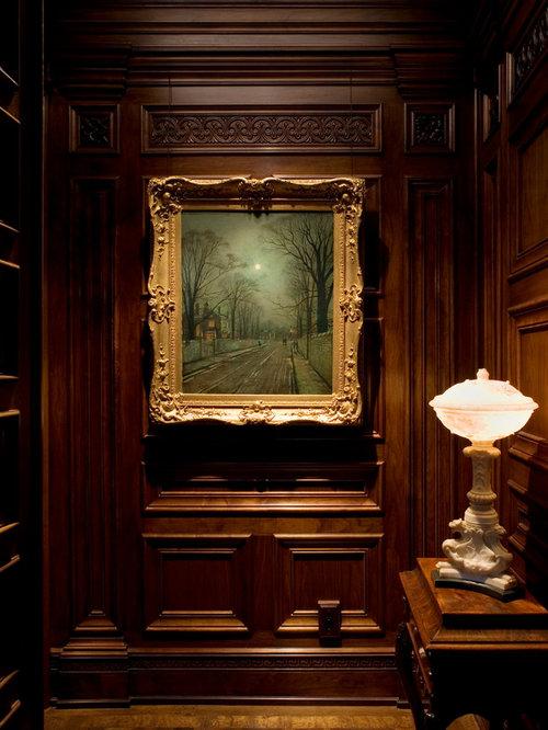 Wood Paneled Library: Painting Paneling