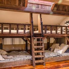 Farmhouse Bedroom by Daniel Contelmo Architects