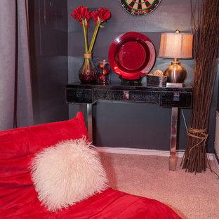 ワシントンD.C.の小さいエクレクティックスタイルのおしゃれな寝室