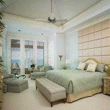 Tropical Bedroom by Cudmore Builders