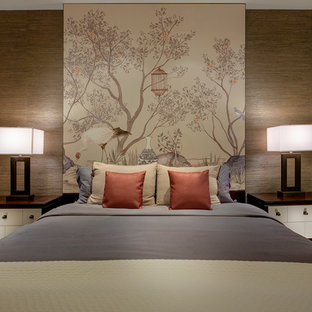 Delicieux Inspiration For A Mid Sized Asian Master Bedroom Remodel In Las Vegas