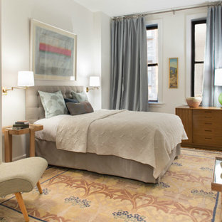 Inspiration for a small transitional master bedroom remodel in New York