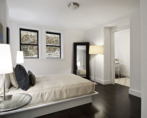 Dark hardwood flooring houzz for Bedroom ideas dark wood floor