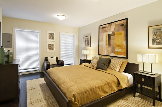 Transitional Bedroom by Cathy Hobbs Design Recipes