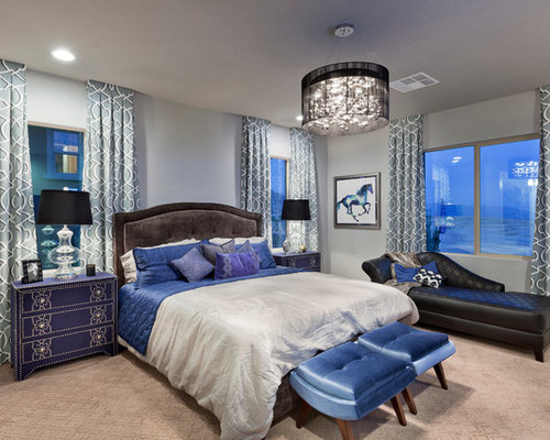 southwestern bedroom design ideas remodels photos with gray walls
