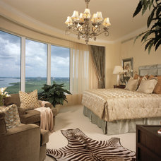 Tropical Bedroom by Marc-Michaels Interior Design