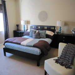 contemporary bedroom by Marcia Goldman
