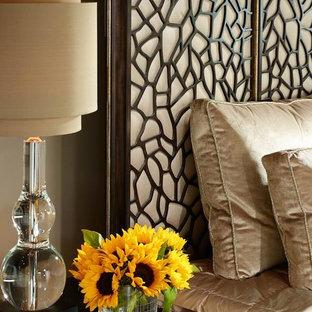 Trendy bedroom photo in Dallas