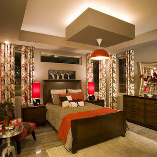 Red And Brown Bedroom Ideas And Photos Houzz