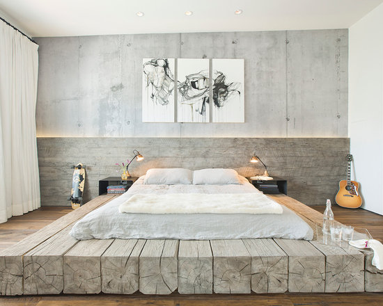 industrial bedroom design ideas, remodels & photos | houzz