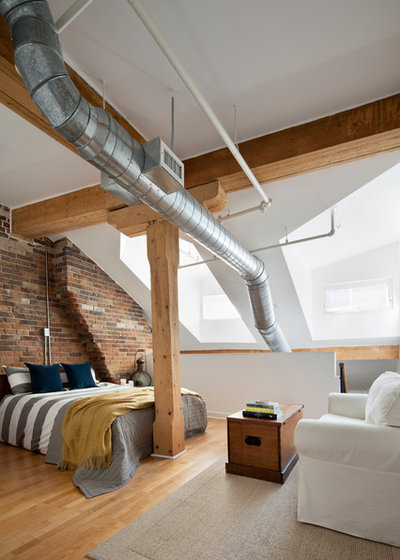 Industrial Bedroom by Rad Design Inc
