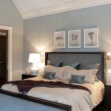 Transitional Bedroom by Marshall Morgan Erb Design Inc.