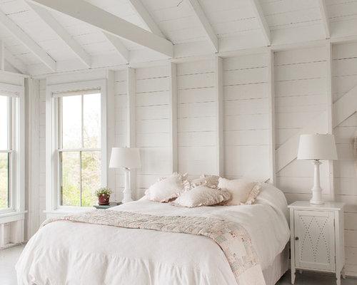 maritime schlafzimmer mit gebeiztem holzboden einrichten ideen bilder deko houzz. Black Bedroom Furniture Sets. Home Design Ideas