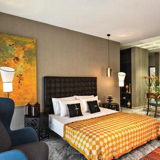 Chambre avec un sol en marbre : Photos et idées déco de chambres