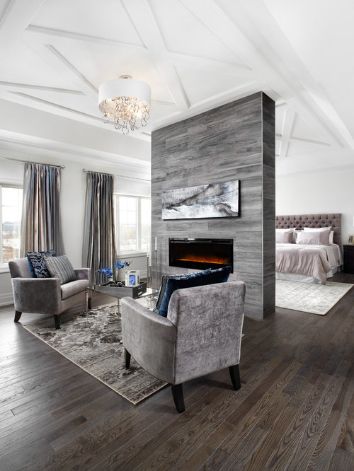 fireplace in middle of room houzz