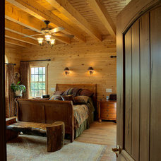 Traditional Bedroom by Katahdin Cedar Log Homes
