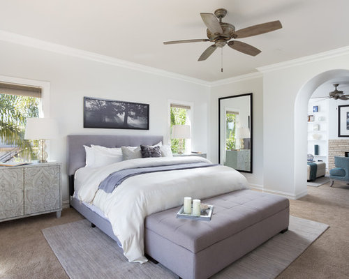 Inspiration for a mediterranean bedroom remodel in Los Angeles. Our 25 Best White Bedroom Ideas   Designs   Houzz