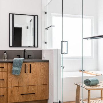 Master Bathroom with Teak Shower Floor