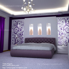 Contemporary Bedroom by NohaNagied