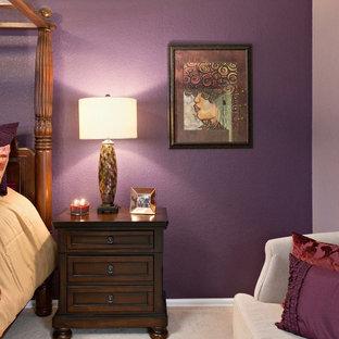 Modern inredning av ett sovrum