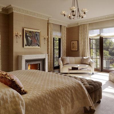 Inspiration for a mediterranean bedroom remodel in San Francisco