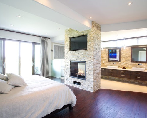 Master bedroom ensuite houzz for Modern ensuite ideas