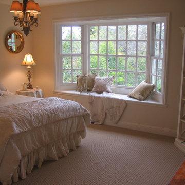 Master Bedroom Bay Window and Sisal -Look Carpet