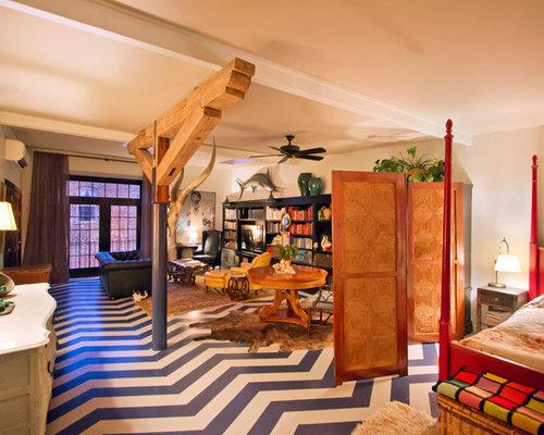 Painted Plywood Flooring | Houzz