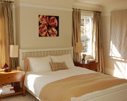 moderne hauptschlafzimmer ideen mit beigefarbenen wnden in san francisco