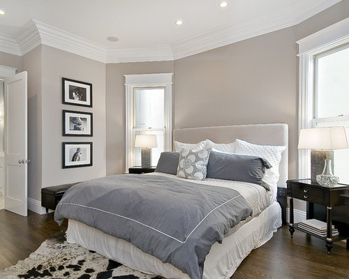 Inspiration For A Timeless Dark Wood Floor Bedroom Remodel In San Francisco With Gray Walls