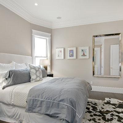 Bedroom - traditional bedroom idea in San Francisco with gray walls