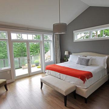Master Bedroom - Chuckanut Custom Contemporary Home
