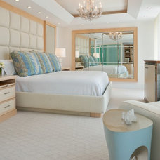 Tropical Bedroom by Cindy Ray Interiors, Inc.