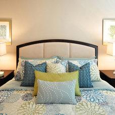 Contemporary Bedroom by David Schaf Interiors, LLC
