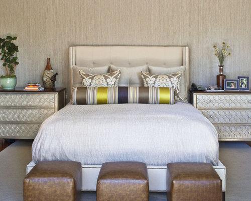 trendy master bedroom photo in los angeles
