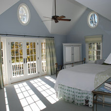 Farmhouse Bedroom by DeMotte Architects