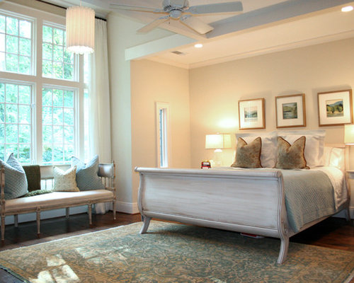Painted sleigh bed home design ideas pictures remodel for Benjamin moore french white