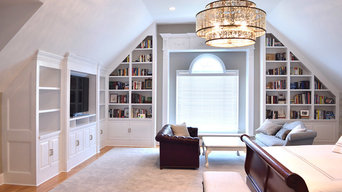 Master Bedroom Entertainment Center & Built-in Bookcase System