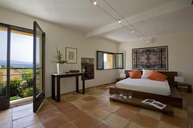 Mediterranean Bedroom by Studio Santalla, Inc