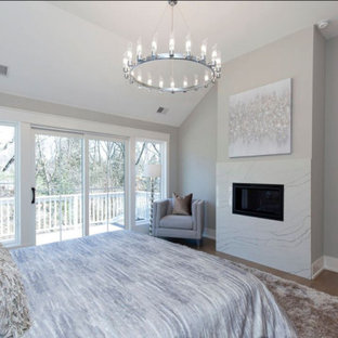 Master Bedroom Fireplace and Balcony
