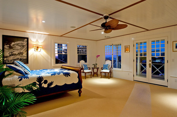 Tropical Bedroom by Flagg Coastal Homes