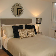 Modern Bedroom by Sheila Singer Staging & Design